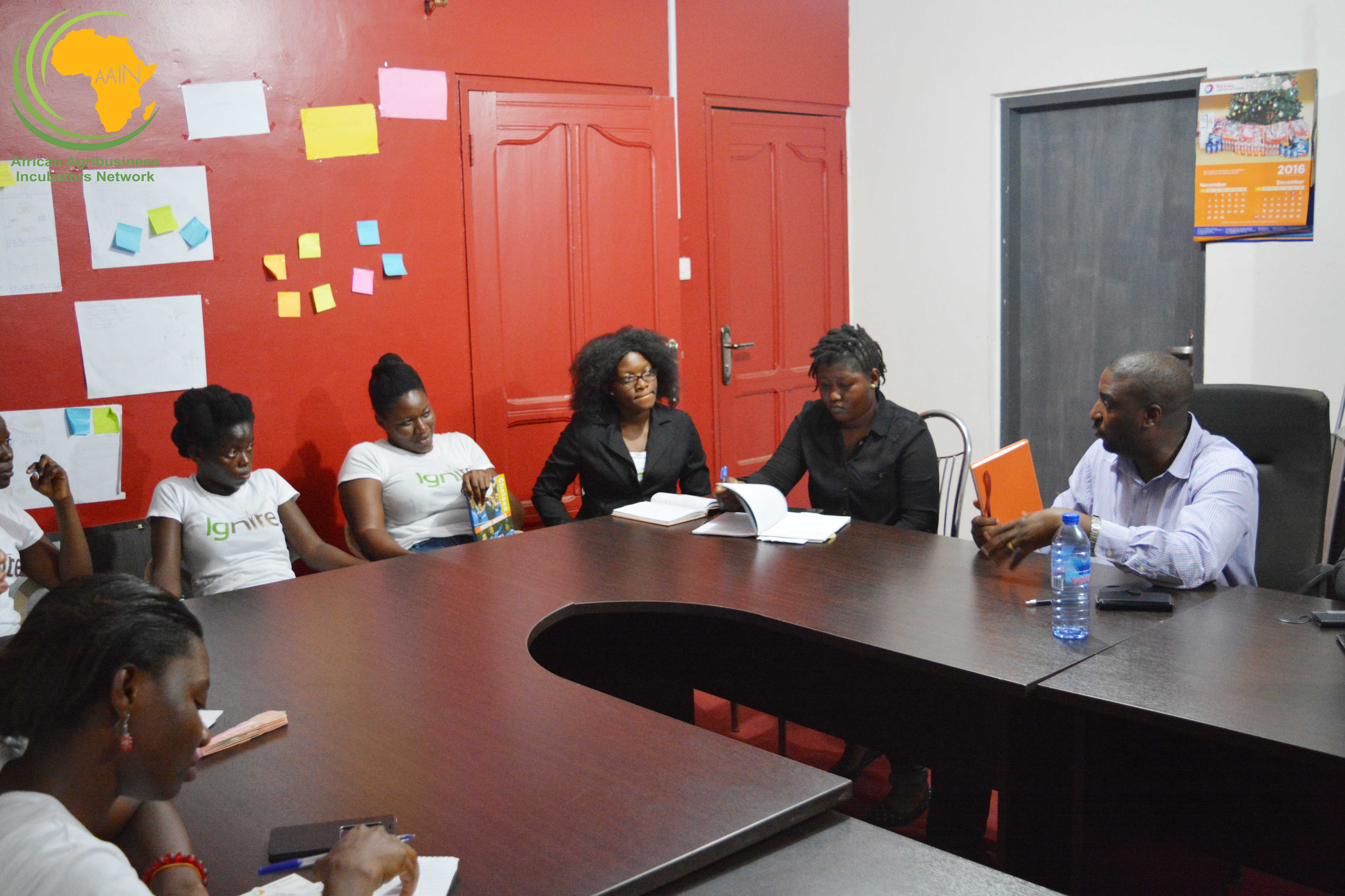 The team during the discussion at Guzakuza on Tuesday.
